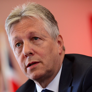 First Minister Peter Robinson at Thursday's press conference