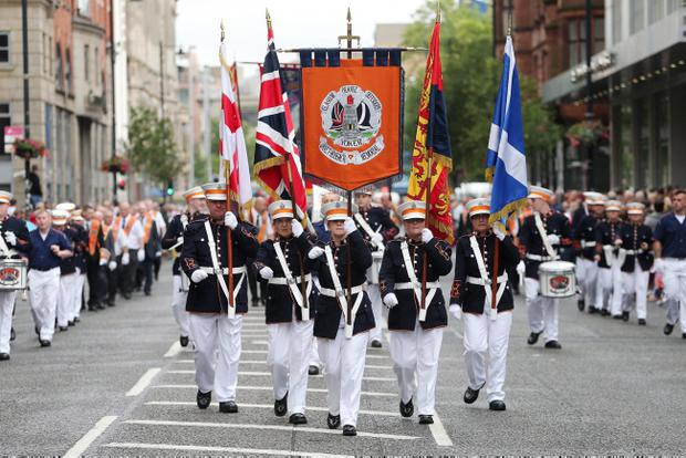 Orange parades in Belfast on July 12, 2014. Photo: Kelvin Boyes / Press Eye