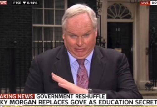 'This Cabinet compared to...' - Adam Boulton as he chokes on a fly live on air