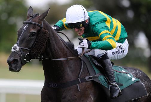 Tony McCoy riding On The Record to equal the all-time number of career wins. Pic Alan Crowhurst/Getty Images
