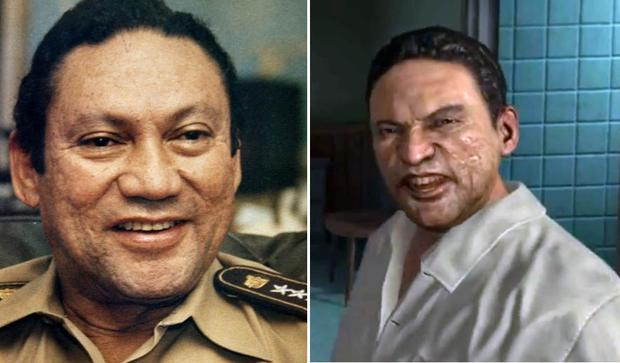 Manuel Noriega and pictured right in Call of Duty: Black Ops II