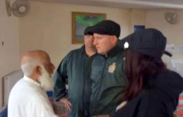 Britain First members in a London mosque