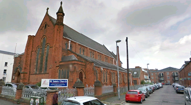 All Saints Church in Westminster Street, south Belfast. Photo Google Street View