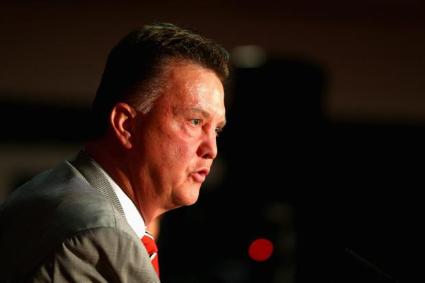 I'm in charge: Louis van Gaal addresses the media at his first Press conference as Manchester United boss