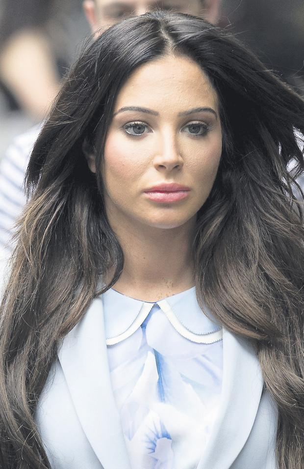 Tulisa Contostavlos at court yesterday after her drugs trial collapsed