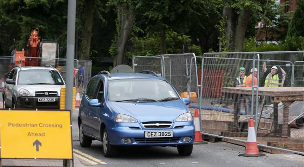Ravenhill Road is set to close after large hole was found during roadworks. Jonathan Porter/Presseye.com