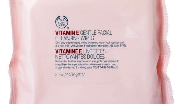 Vitamin E Gentle Facial Cleansing Wipes, www.thebodyshop.co.uk. £6.00 The Vitamin E range from The Body Shop has been protecting skin from premature ageing since 1977. These wipes are perfect for travel or the gym as they do everything from cleanse and remove impurities to moisturise.