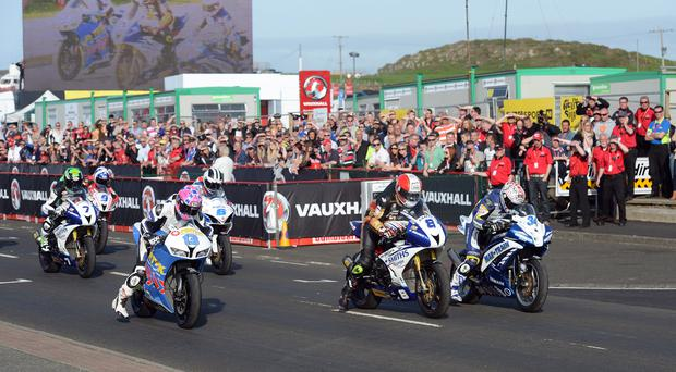 PACEMAKER, BELFAST, 22/7/2014: Racing gets underway at the 2014 North West 200. The International North West 200 has announced that the main race day in 2015 will be May 16, with the Race Week festival running from May10-16. PICTURE BY STEPHEN DAVISON