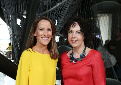 Stephanie Berkeley and Judith Harvey pictured at the launch of Climbit, W5's brand new iconic exhibit at Odyssey