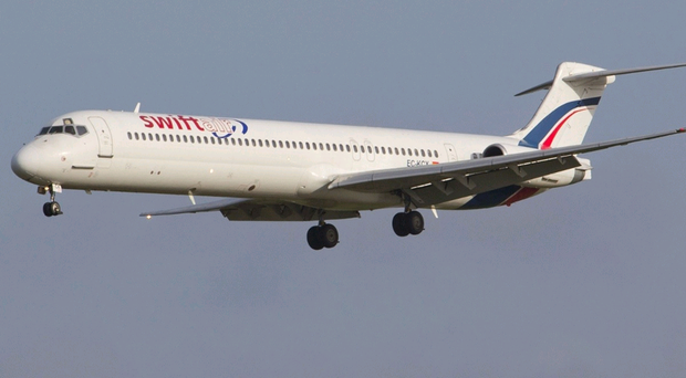 A Swiftair MD83. The Air Algerie flight was chartered from Spanish airline Swiftair, who said 110 passengers and six crew were believed to be on board.