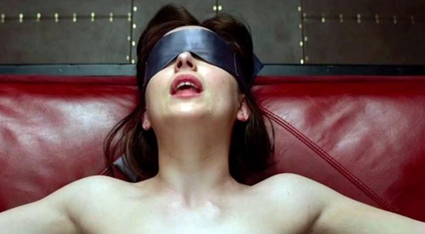 Dakota Johnson as Anastasia Steele taken from the trailer of Fifty Shades Of Grey