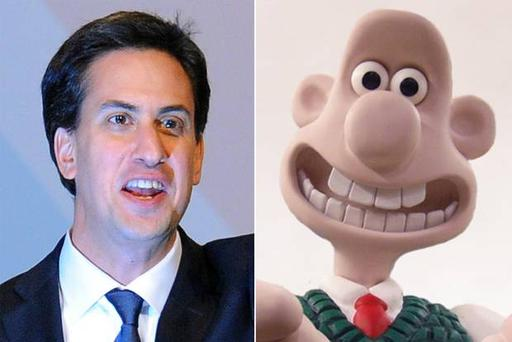 "Ed Miliband, described by critics as looking ""weird"", addressed his weaknesses head-on, saying 'you can find people who look less like Wallace'."