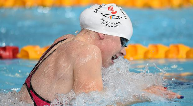 Northern Ireland's Sycerika McMahon in heat 3 of the Women's 200m Individual Medley at Tollcross Swimming Centre, during the 2014 Commonwealth Games in Glasgow