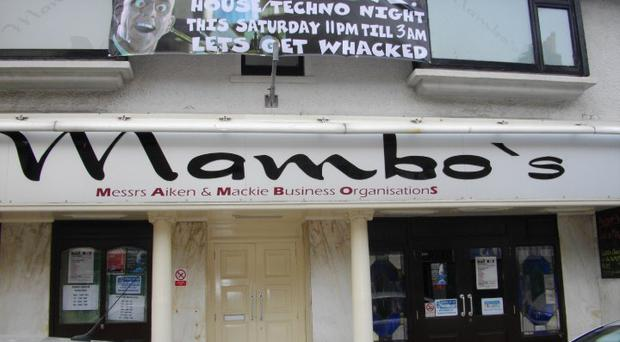 Mambo's nightclub in Queen Street, Peterhead, where the attack took place. Photo Facebook/Mambo's
