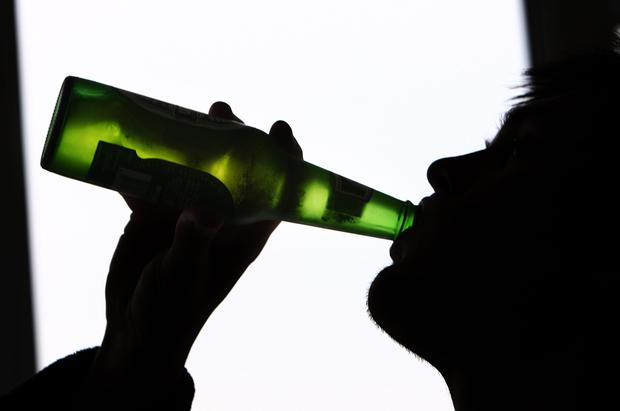 Drinking too much in middle age can lead to memory loss in later life, a study has found. Picture Posed