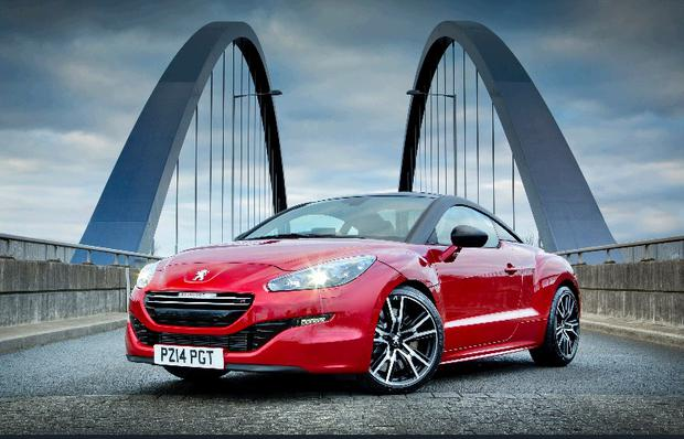 The Peugeot RCZ R sports coupe