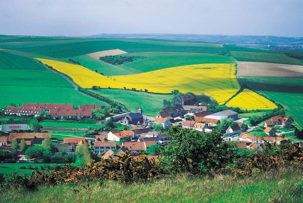 Beautiful countryside like this abounds in Pas de Calais