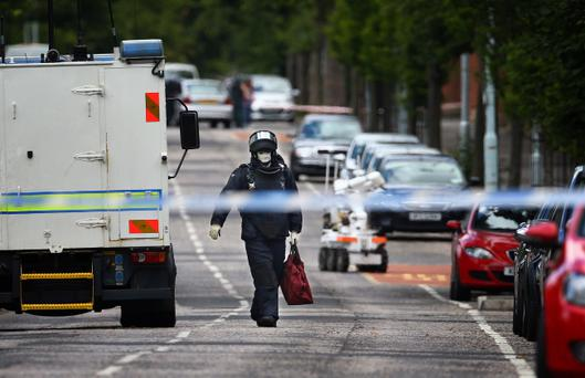 Homes in Duncairn Gardens were evacuated after a device was thrown at a car. William Cherry / Presseye