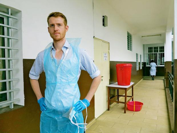 Dr Oliver Johnson, a British doctor who was working in Sierra Leone before the deadly Ebola outbreak struck. Photo King's Health Partners/PA Wire
