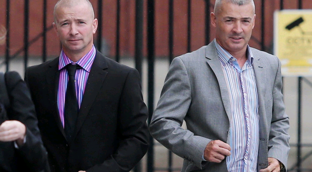 Brothers Gary and Thomas Bates, former directors of Ace Bates Skip Hire, leave Belfast Laganside Courts