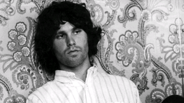 Singer Jim Morrison at the height of his fame with The Doors