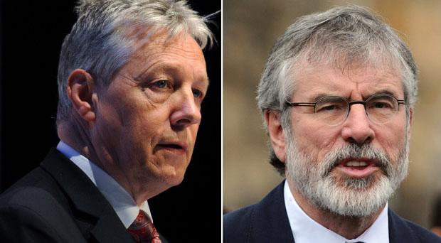 Peter Robinson has slammed comments made by Gerry Adams over the future of the power-sharing in Northern Ireland