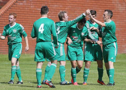 Action from Dundela v Loughgall, August 9
