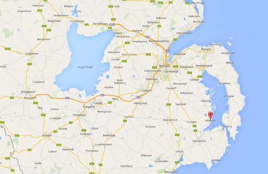 The incident happened in Strangford Lough, Co Down