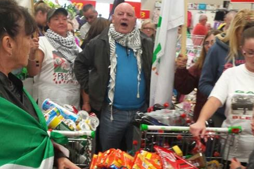 Belfast pro-Palestine republicans remove 'Israeli' goods from shelves of Asda