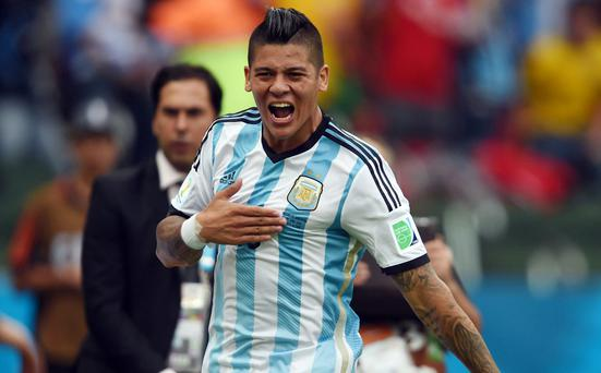 Marcos Rojo at the World Cup