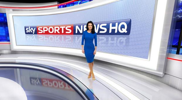 New look: It's either a giant telly or a very small Kirsty Gallacher