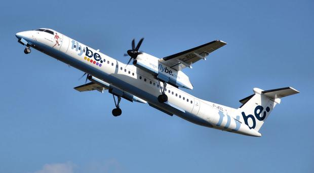 A Flybe Dash 8 aircraft similar to the one that was flown into Belfast Harbour during the incident