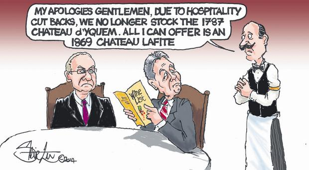 The rising hospitality bill at Stormont is a case in point. It currently runs at £50,000 a week, and has increased by 22% in the last two years