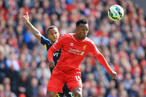 Liverpool's Daniel Sturridge during the Barclays Premier League match at Anfield, Liverpool.