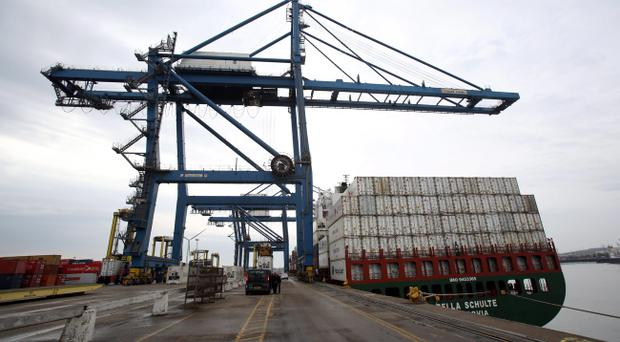 Tilbury Docks, Essex, where adults and children were found inside a shipping container