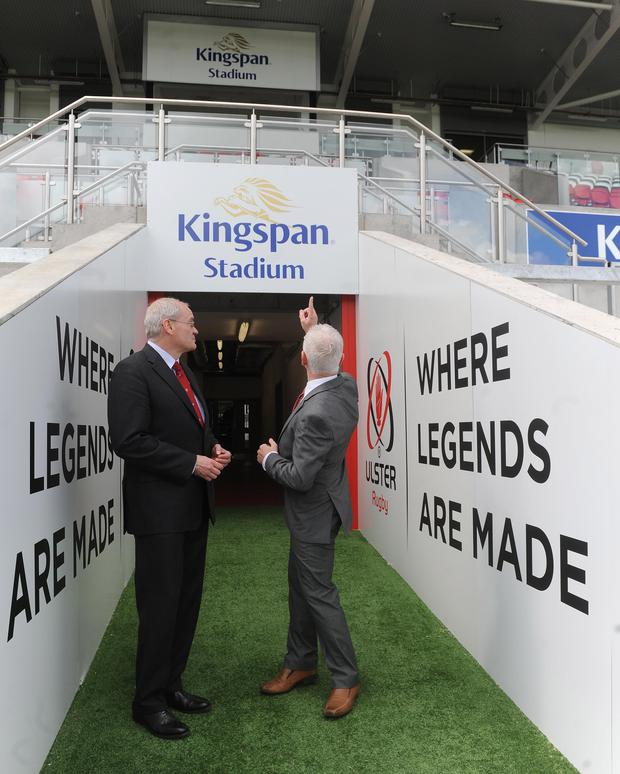 Big changes: Ulster chief Shane Logan (left) with Kingspan managing director Pat Freeman