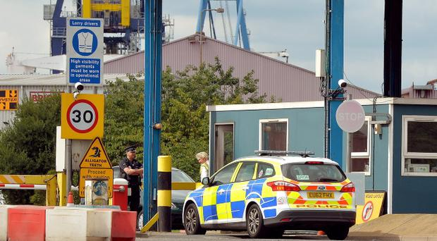 Man arrested in Northern Ireland on suspicion of manslaughter over container death at Tilbury Docks in Essex