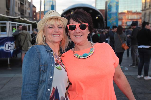 Chic & Nile Rodgers fans at Belsonic Tuesday 19th August 2014 by Liam McBurney/RAZORPIX