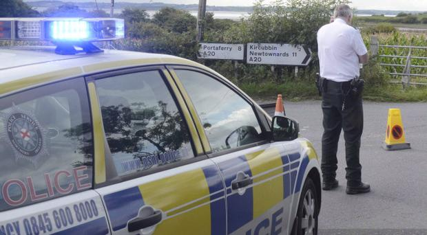 Police at the scene of a serious Road accident on the Rubane Road near Kircubbin, Co Down. Pic Colm Lenaghan/Pacemaker