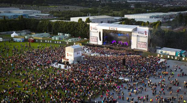 The first night of Tennent's Vital 2014 in Boucher Playing Fields, Belfast earlier this week. Pic Liam McBurney