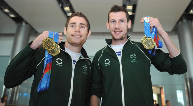 Medal of honour: Jason Smyth and Michael McKillop display their medals from the European Championships