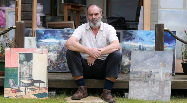 Artist Geordie Morrow pictured at his home and studio in Ballyhalbert, Co. Down. Picture by Jonathan Porter/Presseye.com