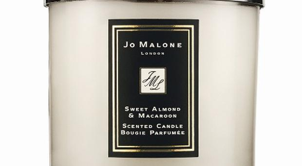 Jo Malone Sweet Almond and Macaroon Candle, £40. www.jomalone.co.uk If you're going to splurge on a candle then Jo Malone is the one to splurge on. This candle includes scents of cherries and vanilla. Very comforting.