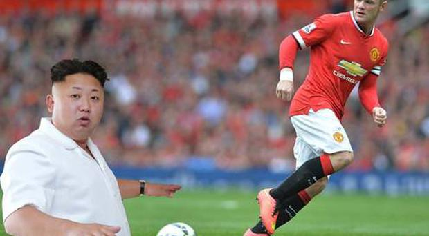 Kim Jong-Un is apparently a big follower of Manchester United and in particular striker Wayne Rooney