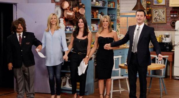 The surprise Friends reunion came ahead of the sitcom's 20th anniversary next month