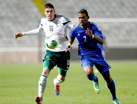 Experienced head: Kyle Lafferty should be a key figure for Northern Ireland in the Euro 2016 qualifying campaign