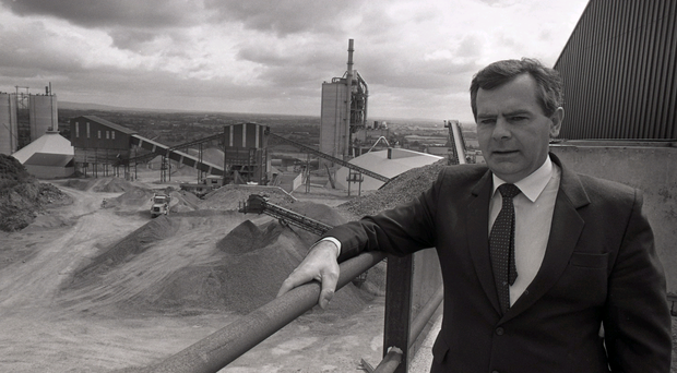 Fermanagh entrepreneur Sean Quinn at the cement factory in Derrylin that was the birthplace of his global business empire