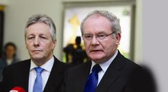 First ministers Peter Robinson and Martin McGuinness