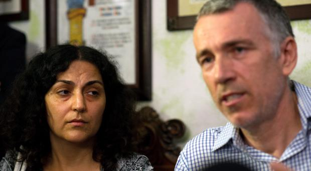 Brett and Naghmeh King, parents of five year old Ashya, hold a press conference at their lawyer's office on September 3, 2014 in Seville, Spain (Photo by Denis Doyle/Getty Images)