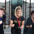 Runher director Michael Jenkins (left) pictured at the launch of Belfast Telegraph Runher's new Titanic 10K Run and Walk with Commonwealth Games boxing medallist Alanna Audley-Murphy and Denise Shields(right). Pic Brian Thompson/Presseye